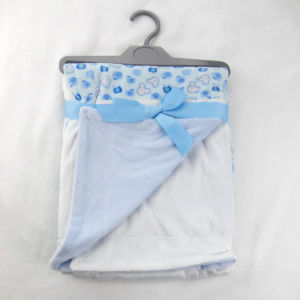 Printed and Solid Micro Mink Patchwork Baby Blanket P015 pictures & photos