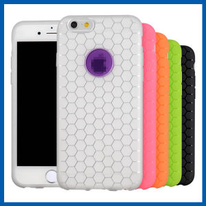 Honeycomb Shaped Soft TPU Cover for iPhone 6 Plus pictures & photos