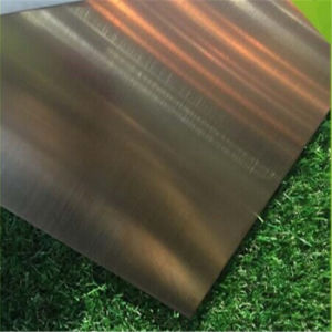 304 Stainless Steel Decorative Plate Hairline Green Bronze Plating Color Sheet with Film 7c PVC pictures & photos