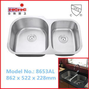 Popular Double Bowl Stainless Steel Kitchen Sink, Wash Sink, Bar Sink pictures & photos