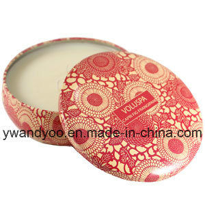 Round Natural Scented Tin Massage Candles with Three Wicks pictures & photos
