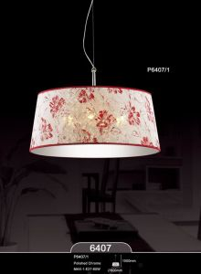 Flower Pattern Fabric Lampshade Pendant Lamps (KAP6407-1) pictures & photos
