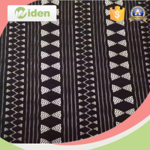 Fashion Dress Making Black and White Stripe Tricot Lace Fabric pictures & photos