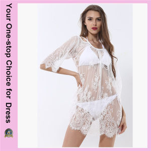 Women Plus Size Summer Beach Sexy Lace Beach Dress (50094) pictures & photos