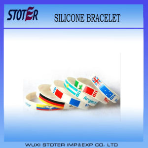 Country Flag Printed Logo Silicone Wristband pictures & photos