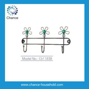 2014 New Design Brass Coating Iron Hanger with 3 Hooks (C61183B)