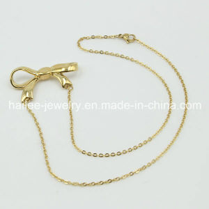 Fashion Lovely Bow Gold Plating Pendant Necklace pictures & photos