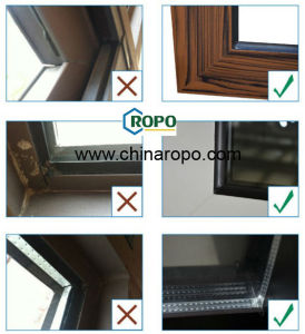Top Quality Grey Color Aluminium Awning Window with Screen pictures & photos