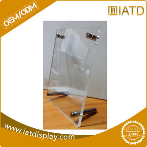 Clear Acrylic Countertop Plastic Holder Menu pictures & photos