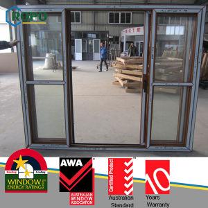 White Color UPVC Fold Sliding Glass Window pictures & photos