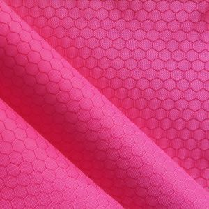 Jacquard Hexagon Polyester Oxford Fabric PVC/PU Polyester Jacquard pictures & photos
