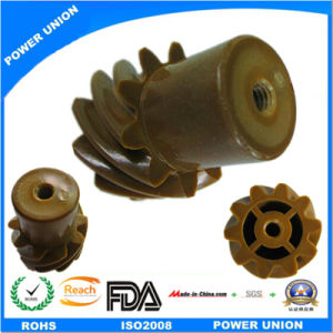 PA66 Nylon Plastic Injection Helical Spiral Helical Gear pictures & photos