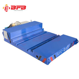 Motorized Steel Industrial Transfer Cart Used (KPC-40T) pictures & photos