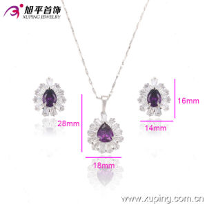China Wholesale Xuping Newest Luxury Rhodium Zircon Jewelry Set pictures & photos
