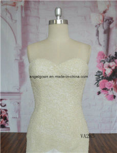 Sweetheart Heavy Beading Ivory Memaid Bridal Gown Wedding Dress Gown pictures & photos