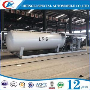 Factory Customized Sales 20, 000L LPG Skid Station LPG Refilling Plant for Nigeria pictures & photos