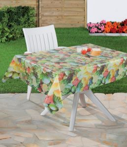 Fruit Design Plastic PVC Material Printed Transparent Tablecloth Made in China pictures & photos