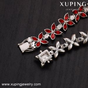 74720 Latest Red Stone Leaf Flower Jewelry Bracelet in Free Shipping pictures & photos