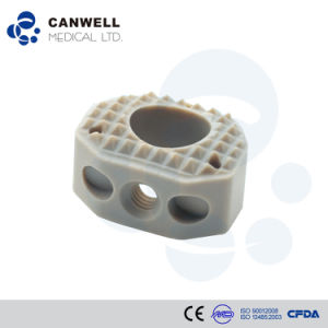 Canwell Anterior Cervical Cage Cancnw-W Peek Cage Orthopaedic Implant Fusion Cage Cervical Peek Cage pictures & photos