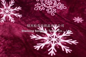 Polyester Printed Sherpa Fleece Blanekt pictures & photos