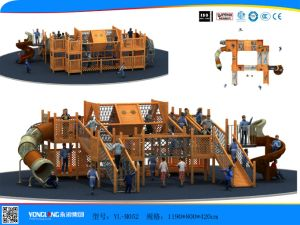 Children Toys Outdoor Used Playground Equipment Wooden Playground (YL-M052) pictures & photos