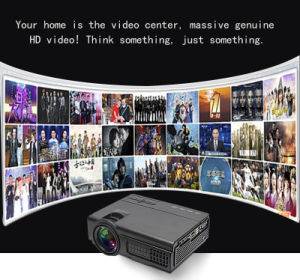 LCD Style and Business & Education, Home, Entertainment Use Smart 4k Projector Blu-Ray 3D LED Projector pictures & photos