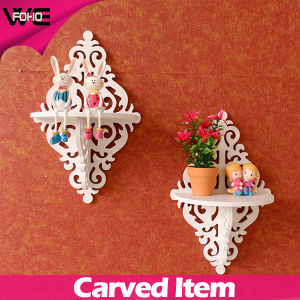 Home Creative White Rack Decorative Wood Wall Shelves pictures & photos