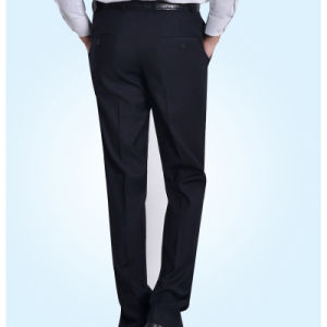 Men′s Black Grey Checked Slim Classic Suit Business Trousers pictures & photos