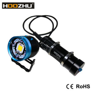 Hoozhu Hv63 2in1 Five Color Light Double Switch Underwater Photo Light+Diving Flashlight Max1, 2000lm Watrproof 100-200m LED Lamps for Diving pictures & photos