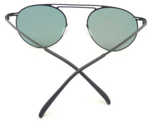 FM171249 New Design Good Quality Metal Sunglasses Round Shape Red Style pictures & photos