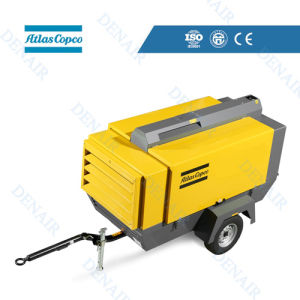 12.5-17 Bar Atlas Copco Tire Diesel Portable Screw Compressor pictures & photos