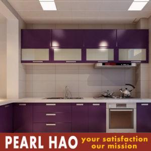 Modern Matte Lacquer Purple Wood Kitchen Cabinet pictures & photos