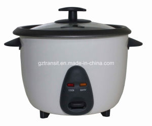 Kitchen Appliance Drum Type Electric Rice Cooker with Glass Lid pictures & photos
