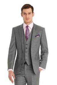 Grey Color Custom Made Men Wedding Suit 3PCS pictures & photos