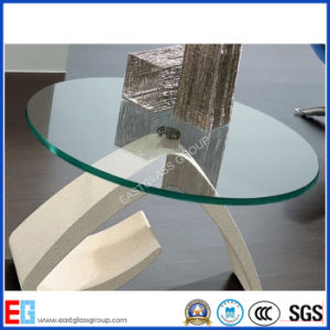 6mm 10mm 12mm Beveled Edge Tabletops Tempered Glass/Toughened Glass with Building/Furniture pictures & photos
