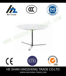 Hzct133 The New New Marble Surface Metal Stents Coffee Table