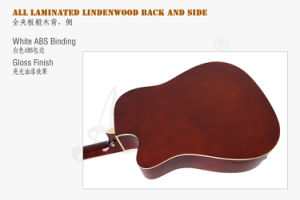 41 Inch High Quality Color Cutway Acoustic Electrical Guitar pictures & photos