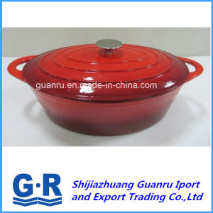 Red Enamel Cast Iron Non-Stick Cooking Pot pictures & photos