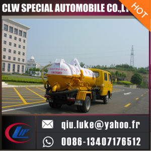 3000L Sewer Cleaning Truck, Vacuum Sewage Suction Truck, Sludge Truck pictures & photos