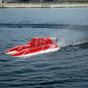 225bl036dp-Original Super Yacht 1200bp (Red Spider) 60km-H High Speed Electric Fiberglass RC Boat with Fs-Gt2 2.4G Transmitter pictures & photos