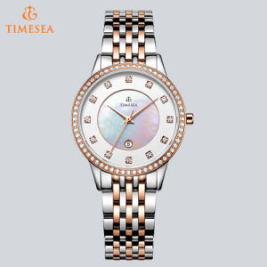 New Luxury Watch Brand Silvery Jewelry Clasp Stainless Steel Ladies Watch 71043 pictures & photos
