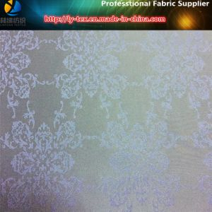 Classic Vintage Flower Jacquard, Polyester Twill Jacquard Fabric (1) pictures & photos