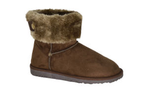 Women′s Microfiber Mid Snow Boots pictures & photos