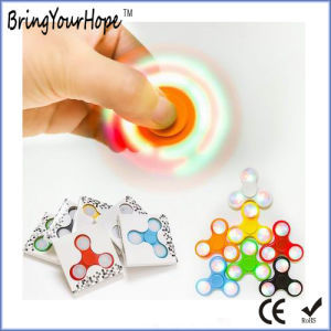 Colorful LED Flash Dark Glow Fidget Hand Spinner (XH-HS-001L) pictures & photos