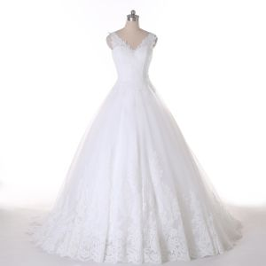 Real Pictures V Neck Best Seller Wedding Dresses pictures & photos