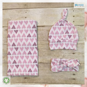 All-Over Printing Baby Wear Gots Baby Blanket Set pictures & photos