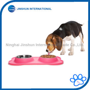 Stainless Steel Dog Mat Feeder Double Bowl with No Spill pictures & photos