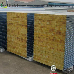 Fire Resistant Rockwool Wool Sandwich Panel for Wall/Roof pictures & photos