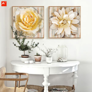 Large Size Flowers Oil Painting with Frame for Decor pictures & photos