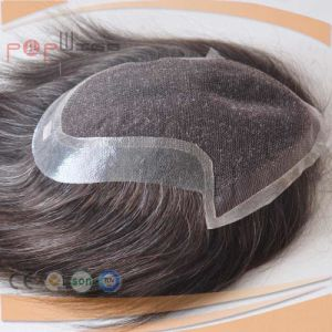 100% Cheap Stock Low Price Full Lace Base Mens Hairpiece pictures & photos